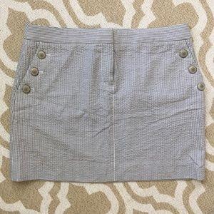 J Crew seersucker mini skirt SZ 6